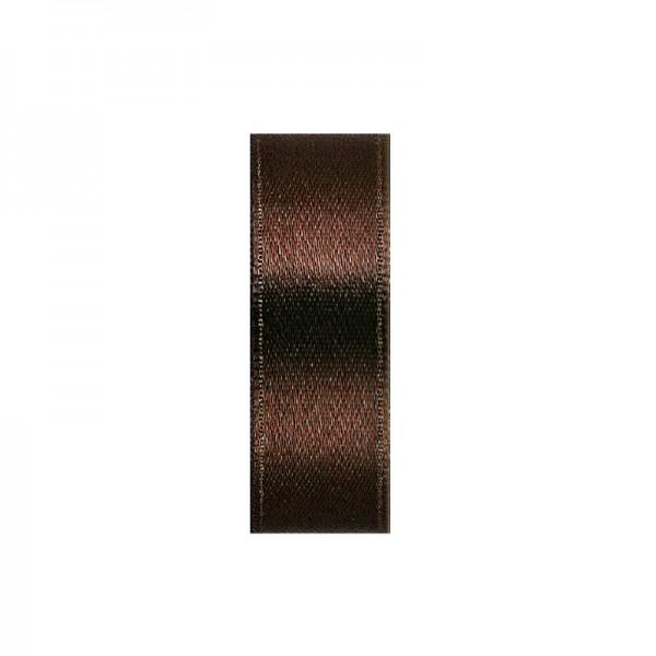 Satinband, doppelseitig, Länge 10 m, Breite 10 mm, mittelbraun