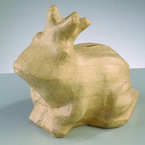 Spardose Froschkönig, aus Pappmachè, 16 x 11,5 x 14,5 cm