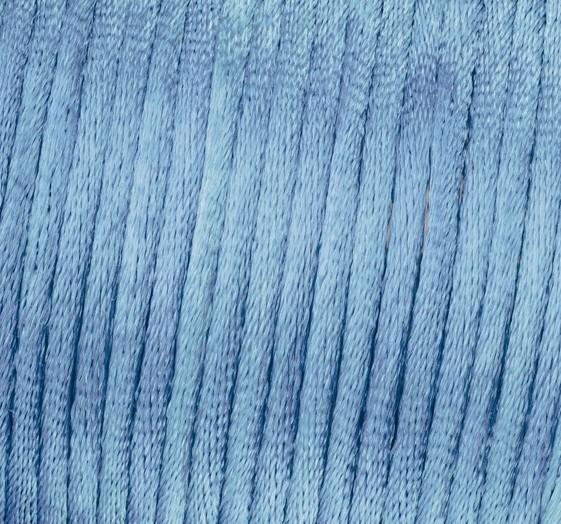 Satin Flechtkordel, Länge 6 m, Stärke 2 mm, hellblau