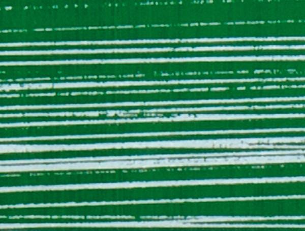 Verzierwachsplatten, silber gestreift, 10 St., grün