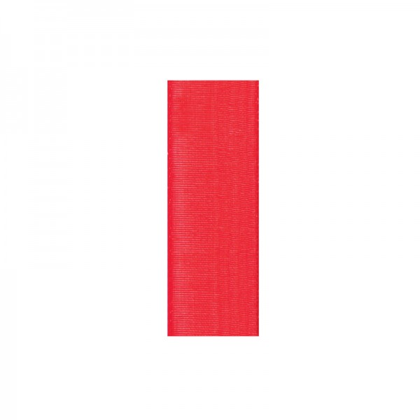 Chiffonband, 10mm breit, 10m lang - hochrot
