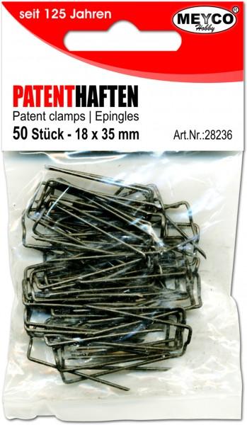 Patenthaften, 50 Stück, 10 x 35 mm