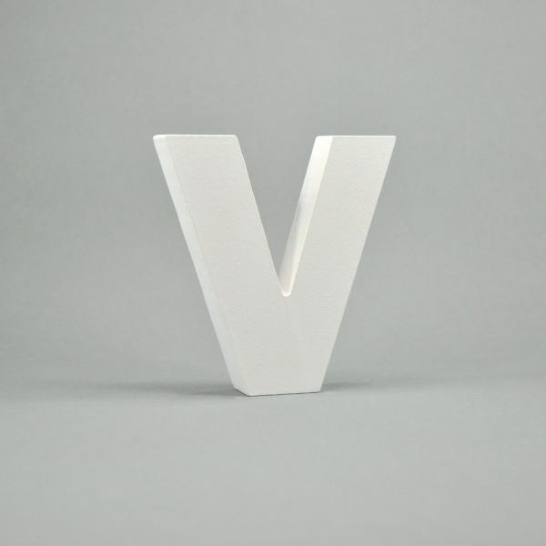 """MDF- Buchstaben """"V"""", weiß"""