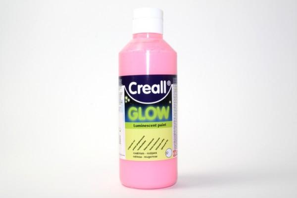 Creall-glow, Nachtleuchtfarbe, 250 ml, rosa
