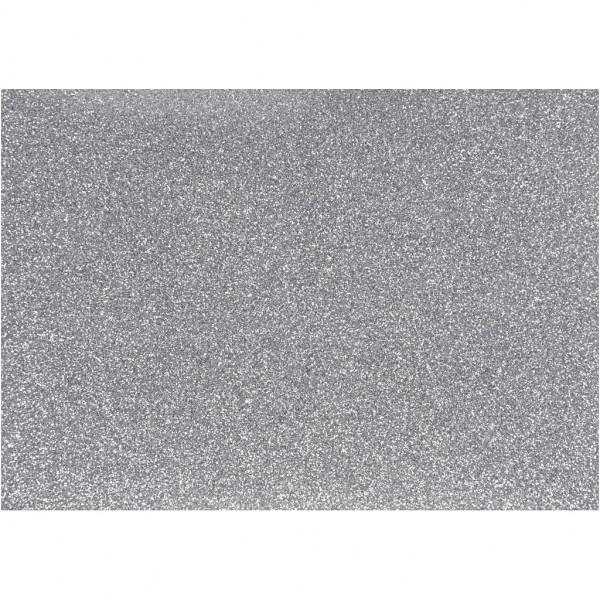 Glitter-Bügelfolie, A5 14,8x21 cm, silber
