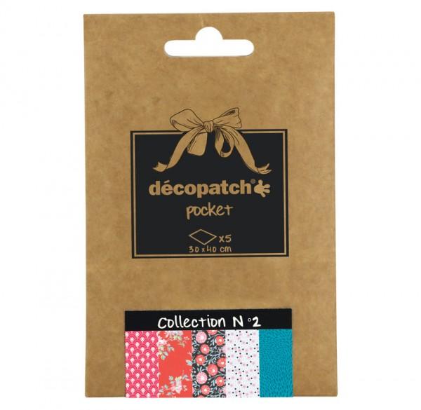Decopatch Pocket Papier, 5er Sortiment, Collection No 2