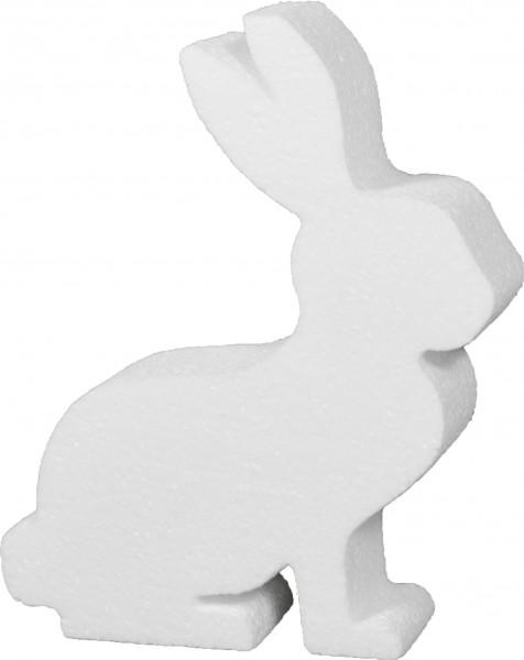 Styropor-Silhouette Hase 20x16x4cm