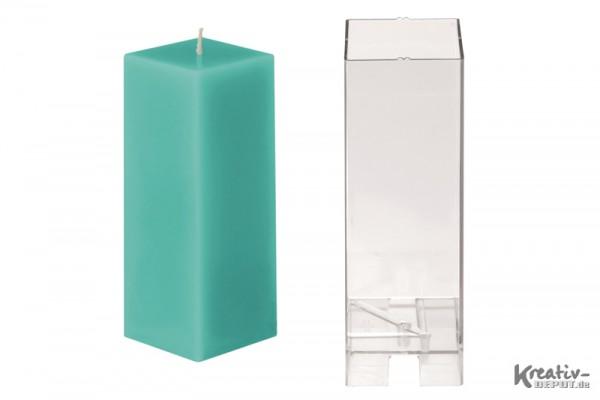 Kerzenform, 6x6x16 cm, hohes Quadrat