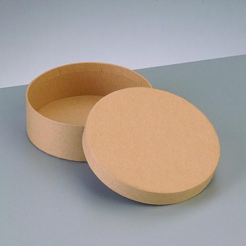 Box Rund, aus Pappmaché, Ø 10,5 x 3,6 cm