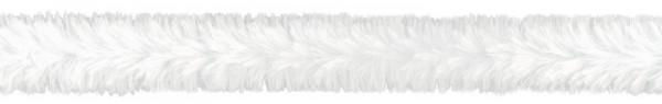 Biegeplüsch/Pfeifenputzer, 30 cm x 24 mm Ø, 4 St, weiß