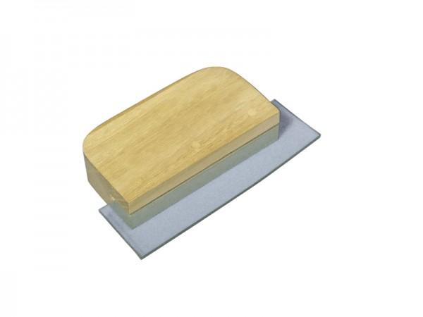 Fugenspatel, mit Holzgriff, PVC-Lippe, 2 x 10 x 5,5 cm