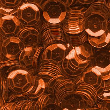 Pailletten, rund, gewölbt, 6 mm, 1400 St, rost-metallic