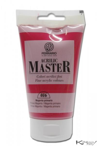 Ferrario Acrilic Master Acrylfarbe, 120 ml, Primär Magenta