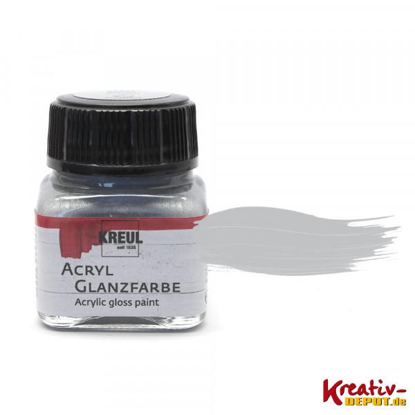Kreul Acryl-Glanzfarbe, 20 ml, Silber