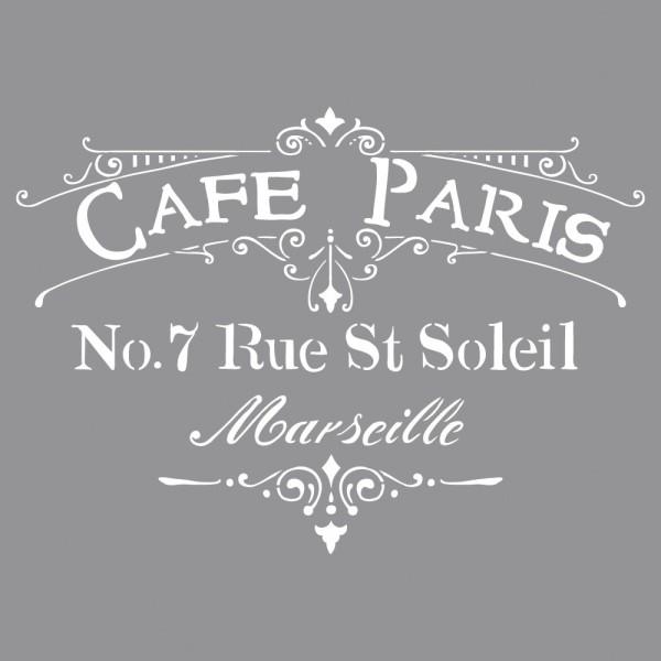 Schablone, 30,5 x 30,5 cm, Cafè Paris