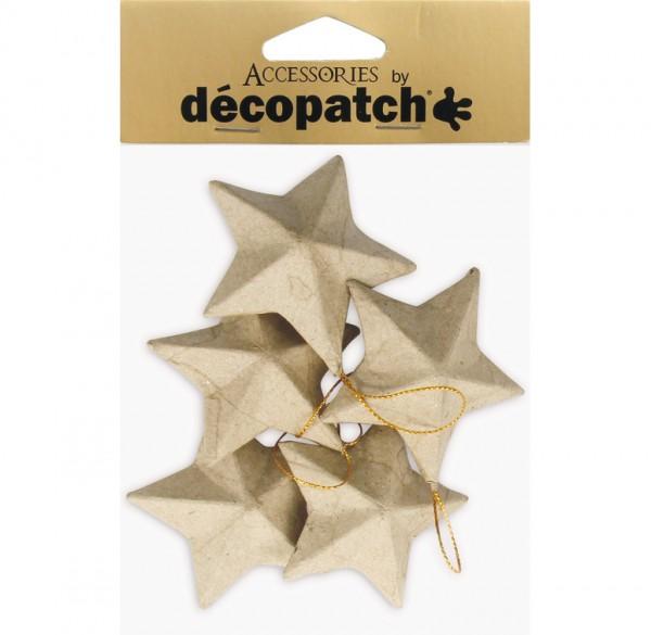 decopatch Sterne, 5 Stück, 7,5cm