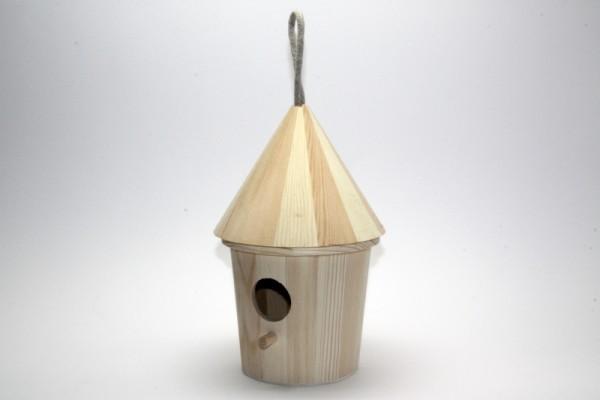 Holz-Vogelhaus Rund