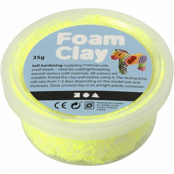 Foam Clay - Neongelb, 35g