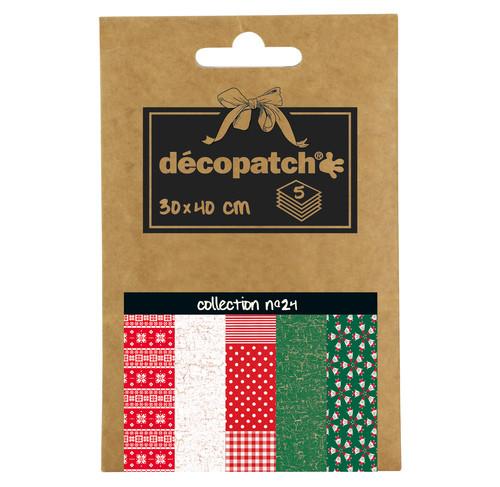 Decopatch Pocket Papier, 5er Sortiment, Collection No 24