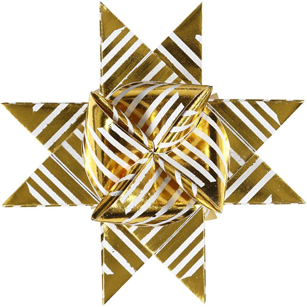 fr belstern streifen metallic spitzen wei gold 15mm 25mm kreativ depot. Black Bedroom Furniture Sets. Home Design Ideas