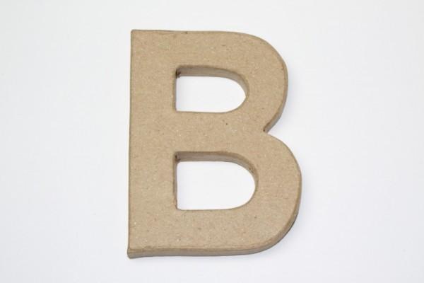 Buchstabe B, 10 x 1 cm, aus Pappmachè