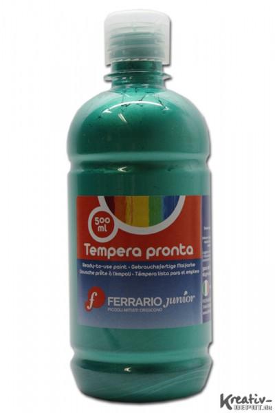 Tempera pronta, Temperafarbe, 500 ml, Metallgrün