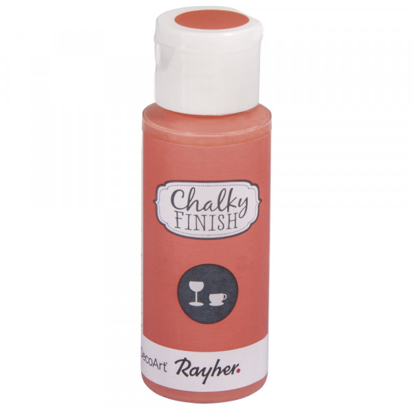Chalky-Finish Kreidefarbe für Glas 59 ml - lachsrosa