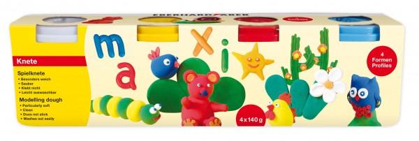 EBERHARD FABER, Spielknete, 4 Basisfarben à 140 g