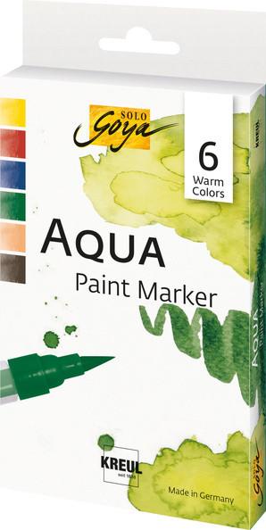 Aqua Paint Marker - 6er Set Warm Colors