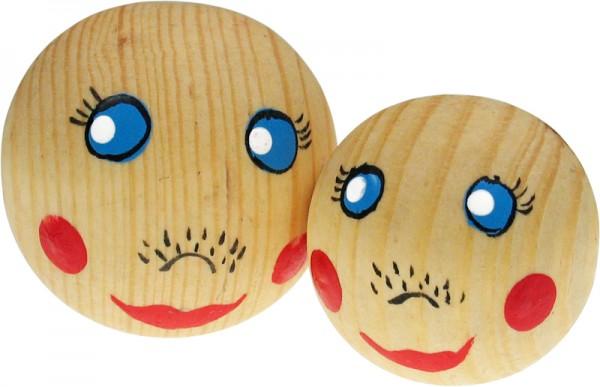 Puppenkopf Puppenkopf, aus Holz, 2 Stück