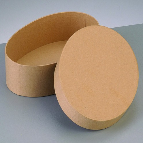 Box Oval, aus Pappmaché, 16,5 x 10,5 x 8 cm