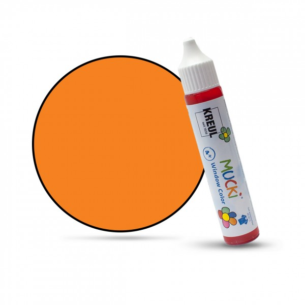 Mucki Window Color Pen, Fenstermalfarbe, 29 ml, orange