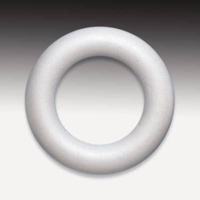 Styropor-Ring, voll, weiß, 12 cm Ø