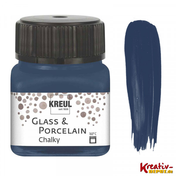 Glass & Porcelain Chalky - Navy Blue