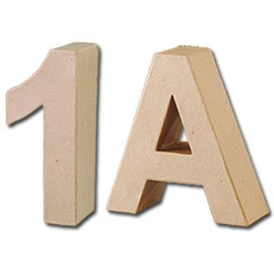 Zahlen und Buchstaben aus Pappmachè | Kreativ-Depot