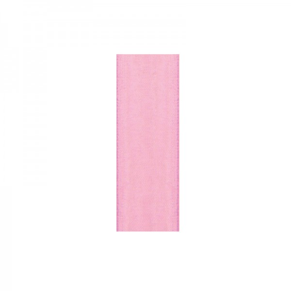 Chiffonband, 10mm breit, 10m lang - rosa