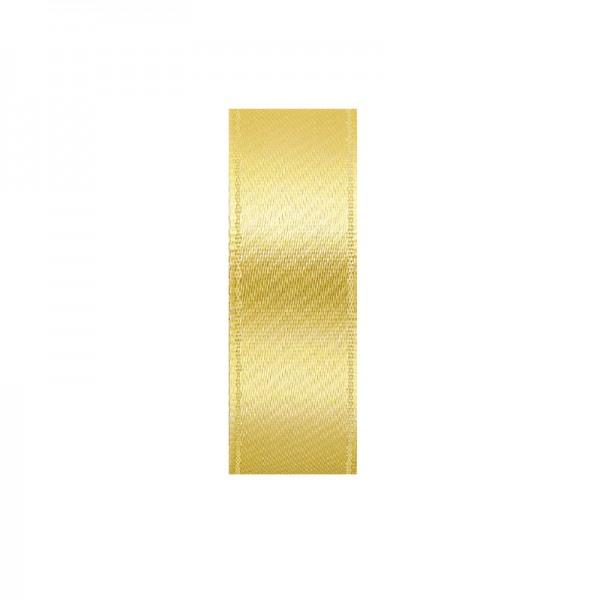 Satinband, doppelseitig, Länge 10 m, Breite 10 mm, sonnengelb