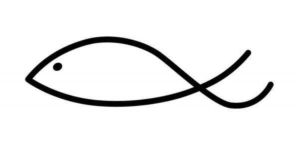 Stempel Fisch modern 50x15mm