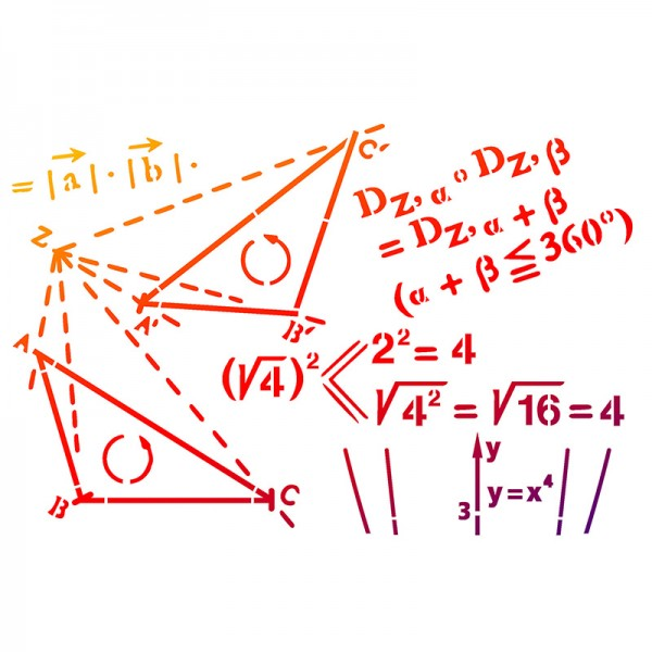 Viva Decor Universal-Schablone, DIN A4, Mathematik