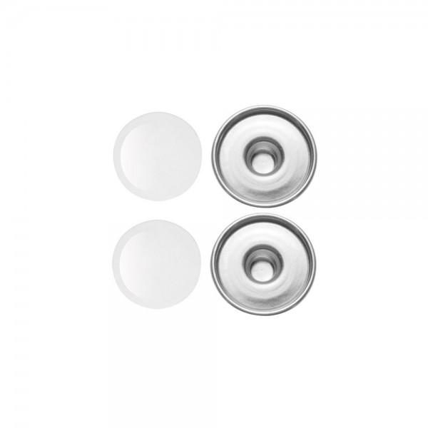 2 x Cabochons + Druckknöpfe, rund ⌀ 18 mm