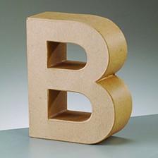 Buchstabe B, 10 x 3 cm, aus Pappmaché