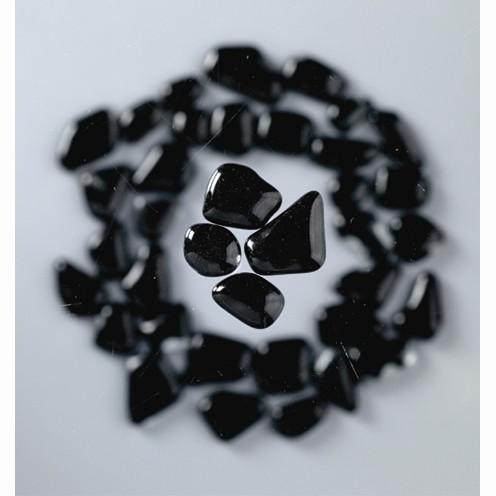 Mosaik Glasstein soft, 8-25 mm, schwarz