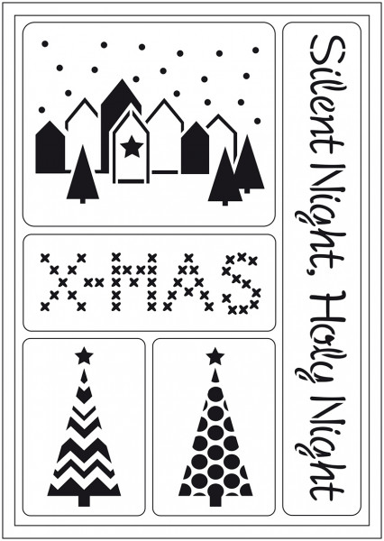 Viva Decor Flex-Schablone A5 - Silent Night