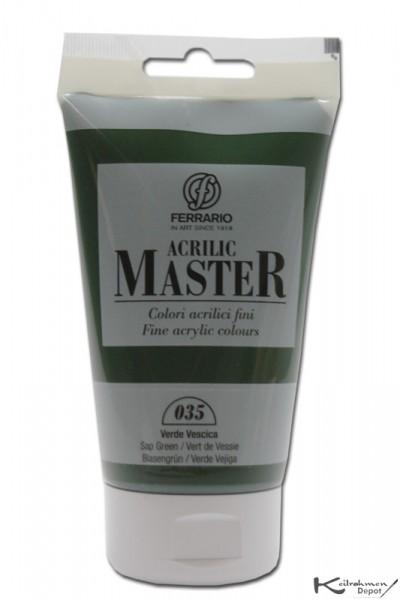 Ferrario Acrilic Master Acrylfarbe, 120 ml, Blasengrün