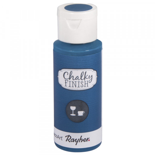 Chalky-Finish Kreidefarbe für Glas 59 ml - coelinblau