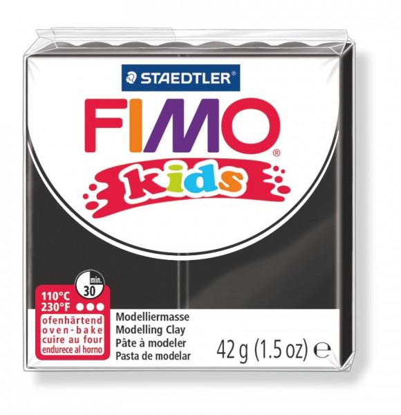 FIMO kids, Modelliermasse, 42 g, schwarz