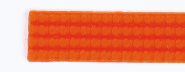 Wachsperlstreifen, 2mm, 20cm, 11 Stk., orange