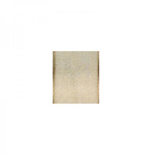 Chiffonband mit Drahtkante, 15mm breit, 5m lang - beige