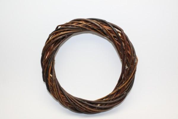 Weidenkranz, dunkel, Ø 20 cm, Stärke ca. 3,5 cm