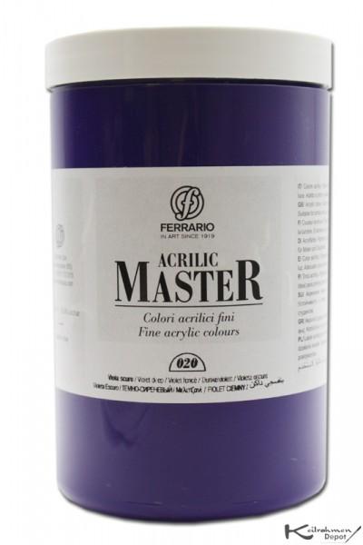 Ferrario Acrilic Master Acrylfarbe, 1000 ml, Dunkelviolett